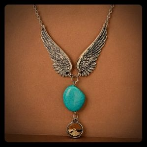 Bohemia Stone Necklace With Link Chain